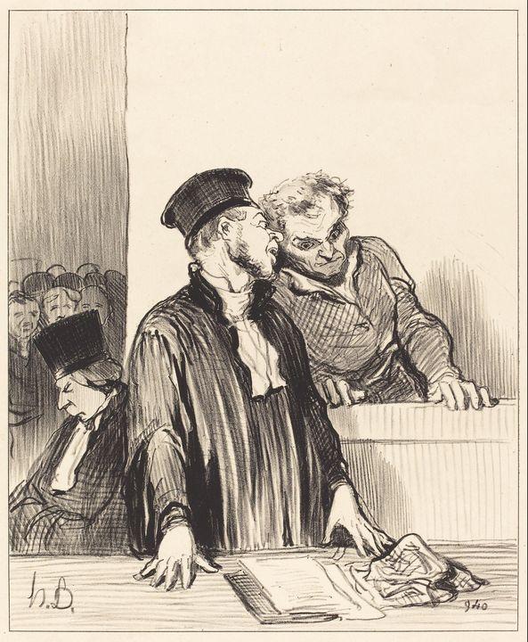 Honoré Daumier~Voila le ministère pu - Classical art