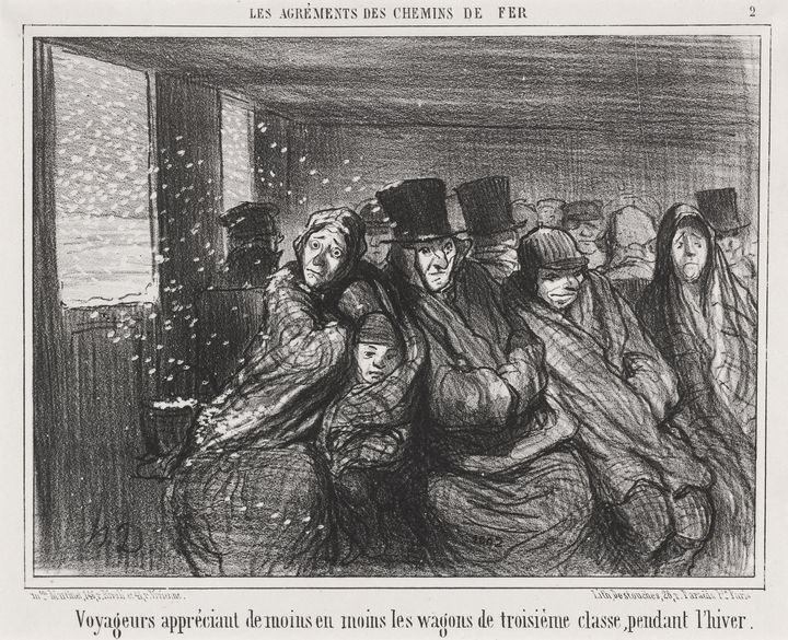 Honoré Daumier~Voyageurs appréciant - Classical art