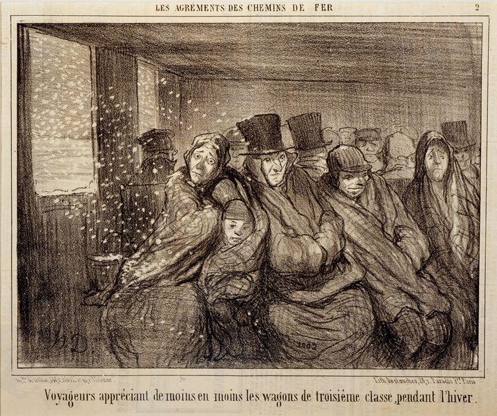 Honoré Daumier~Voyogeurs appreciant - Classical art