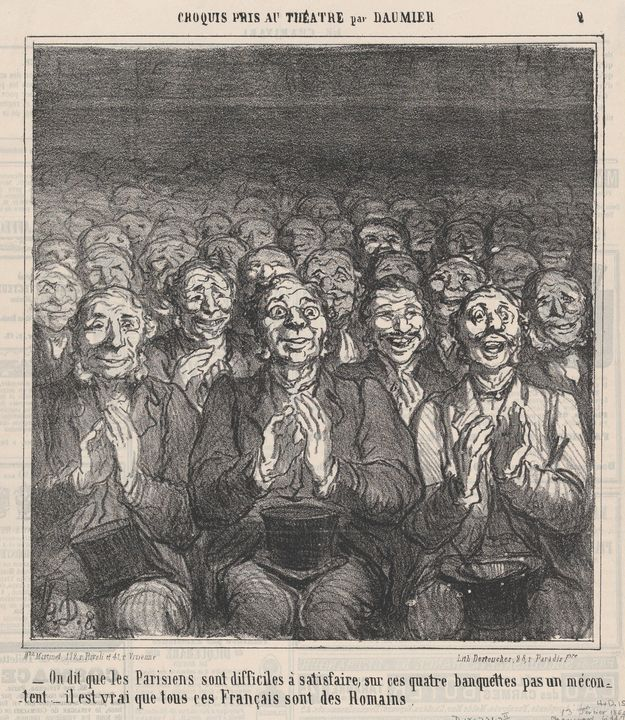 Honoré Daumier~Who says, Parisians a - Classical art