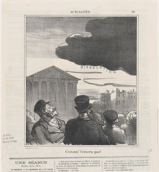 Honoré Daumier~Will it burst or not, - Classical art
