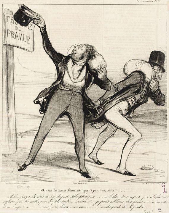 Honoré Daumier~À tous les coeurs bie - Classical art