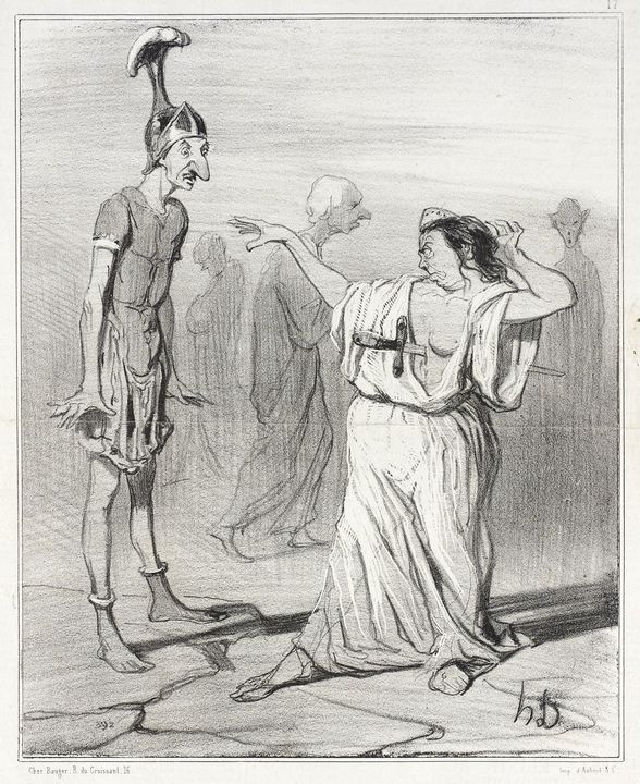 Honoré Daumier~Énée aux enfers - Classical art