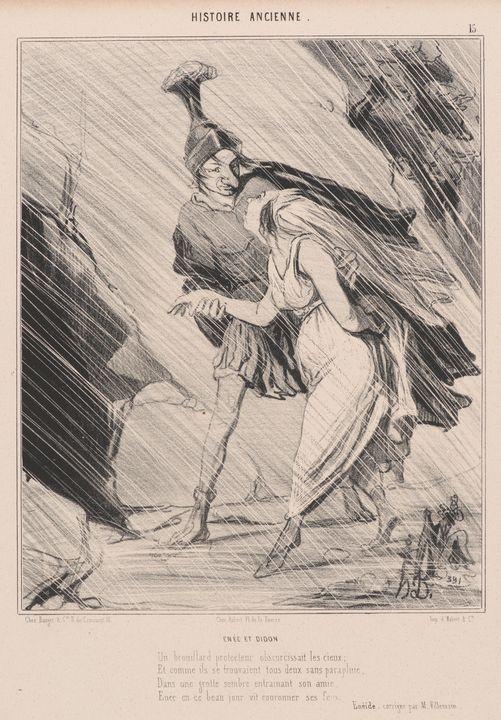 Honoré Daumier~Énée et Didon - Classical art