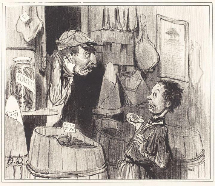 Honoré Daumier~Épicier citoyen, guer - Classical art