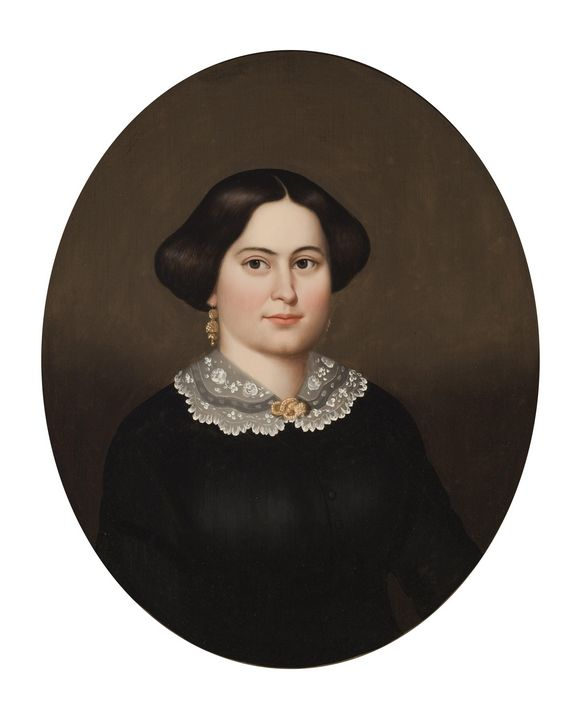 Horace Bundy~Portrait of Mary Bishop - Classical art