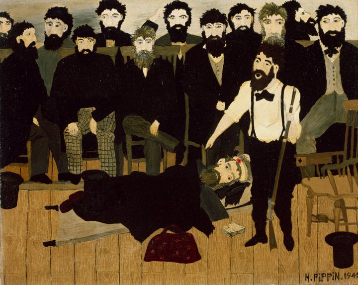 Horace Pippin~The Trial of John Brow - Classical art