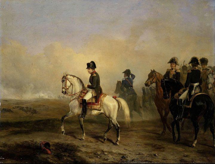 Horace Vernet~Keizer Napoleon I en z - Classical art