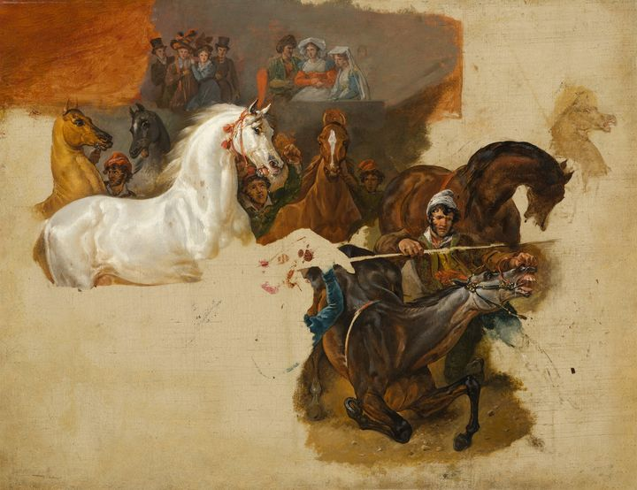 Horace Vernet~Race of the Riderless - Classical art
