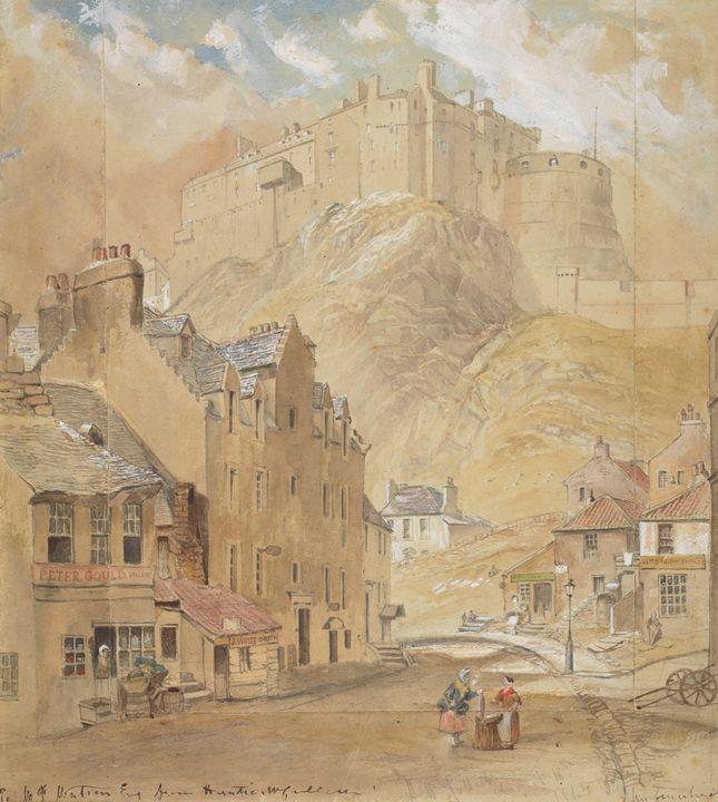 Horatio McCulloch~Edinburgh Castle f - Classical art