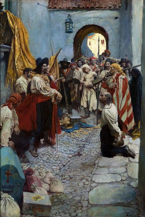 Howard Pyle~Extorting Tribute from t - Classical art
