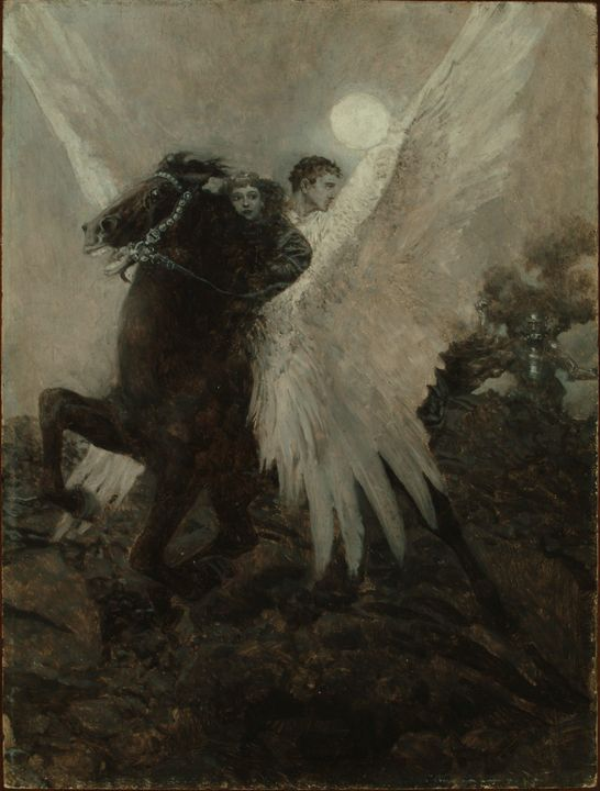 Howard Pyle~Fast Flew the Black Wing - Classical art