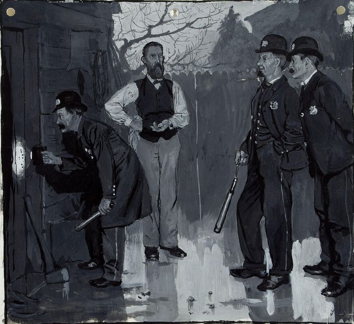 Howard Pyle~One of the Policemen Pro - Classical art