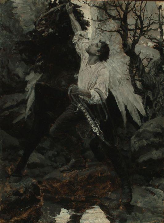 Howard Pyle~Quick as a Flash, David - Classical art