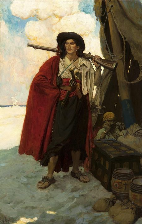 Howard Pyle~The Buccaneer Was a Pict - Classical art
