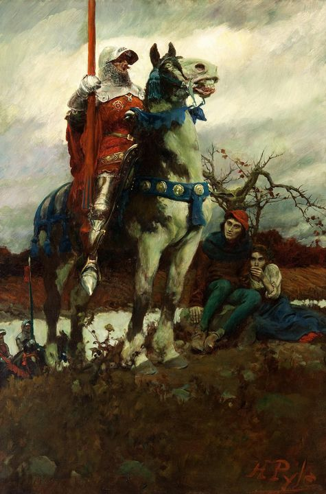 Howard Pyle~The Coming of Lancaster - Classical art