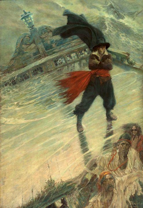 Howard Pyle~The Flying Dutchman - Classical art
