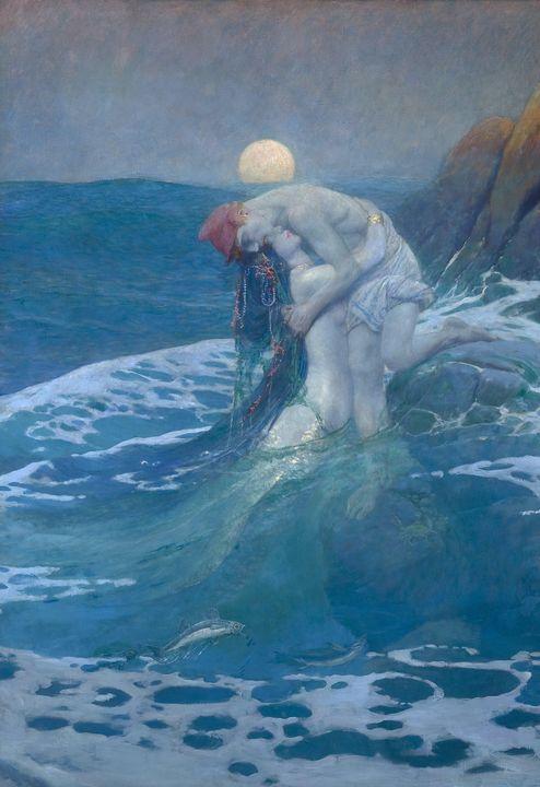 Howard Pyle~The Mermaid - Classical art