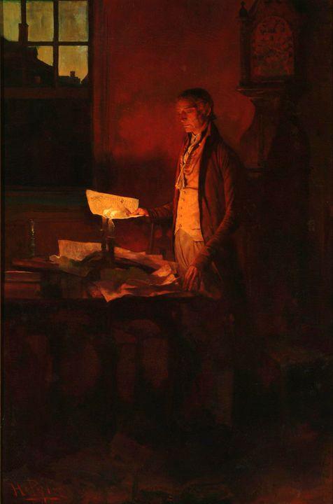 Howard Pyle~Thomas Jefferson Writing - Classical art