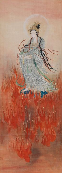 Huang Bore~Guanyin above clouds of f - Classical art