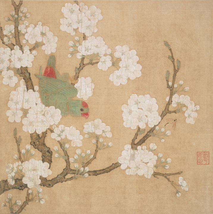 Huang Jucai~Parrot and insect among - Classical art