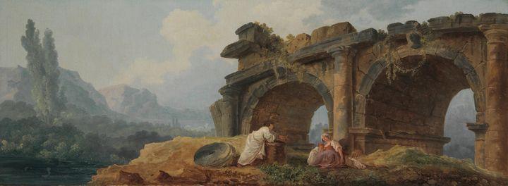 Hubert Robert~Arches in Ruins - Classical art