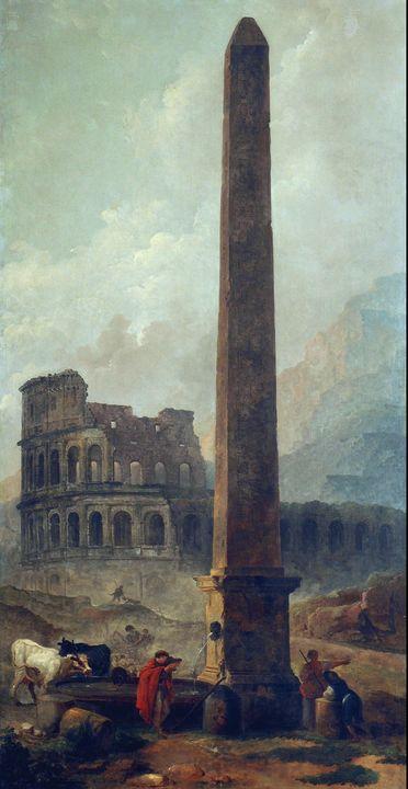 Hubert Robert~Coliseum and the Later - Classical art