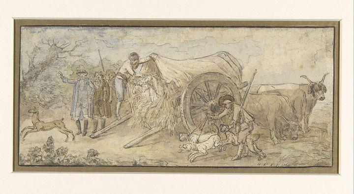 Hubert Robert~Huifkar in de Campagna - Classical art