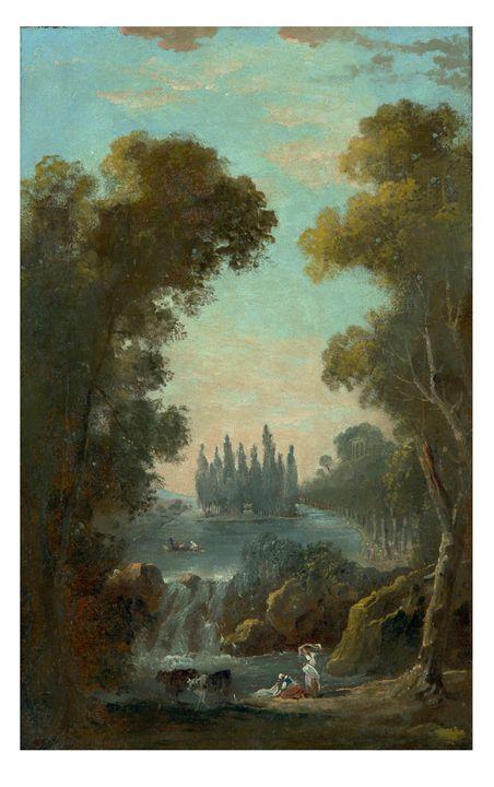 Hubert Robert~La tumba de Jean-Jacqu - Classical art