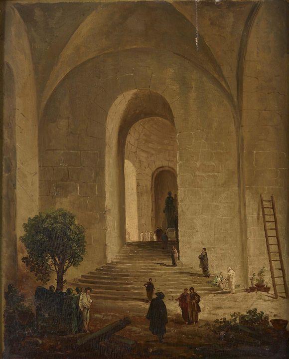 Hubert Robert~Orangerie of the Palac - Classical art