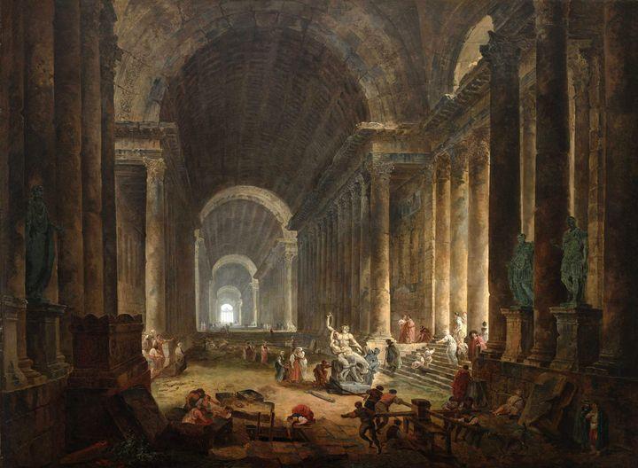 Hubert Robert~The Finding of the Lao - Classical art