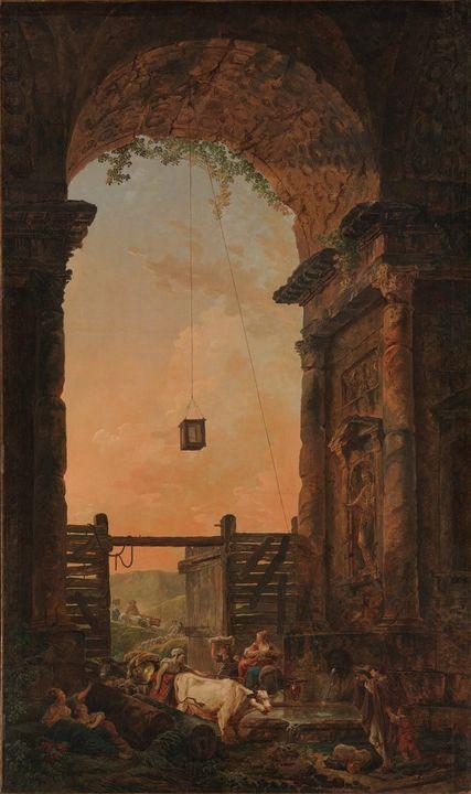 Hubert Robert~The Return of the Catt - Classical art