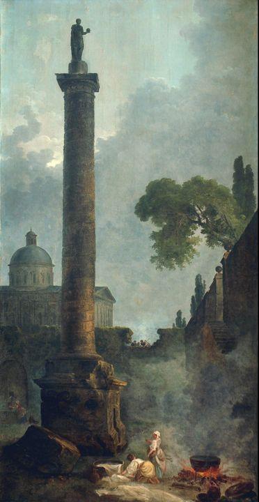 Hubert Robert~Trajan's Column and a - Classical art