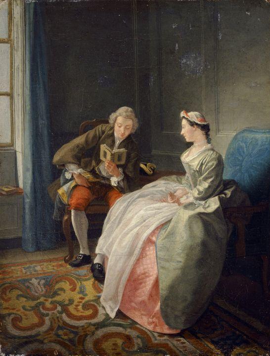 Hubert-François Gravelot~Le Lecteur - Classical art