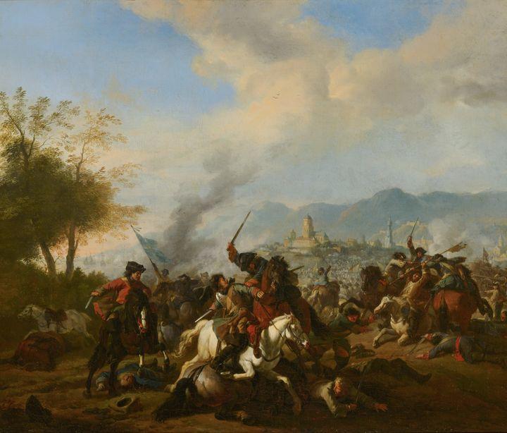 Huchtenburg~Cavalry Engagement - Classical art