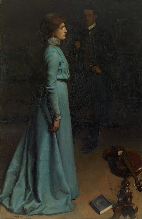 Hugh Ramsay~The lady in blue (Mr and - Classical art