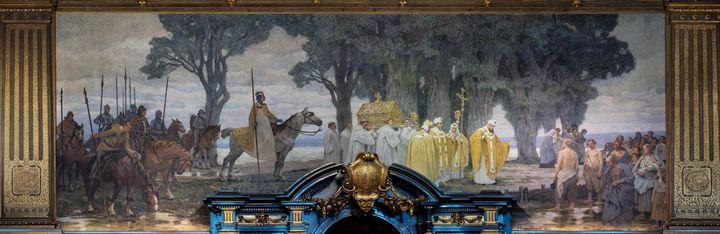 Hugo Vogel~wall painting - Classical art