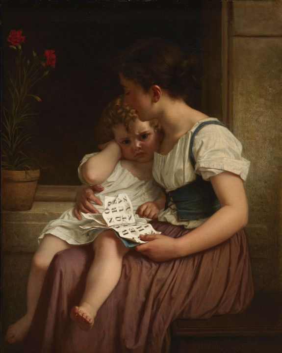 Hugues Merle~The First Thorns of Kno - Classical art