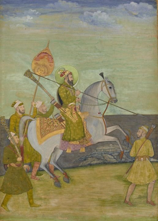 Hunhar I~Equestrian Portrait of Baha - Classical art