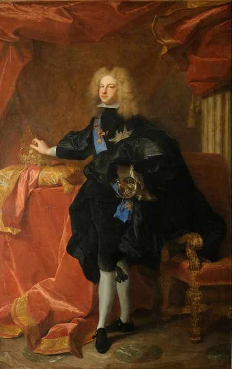 Hyacinthe Rigaud~Philip V, king of S - Classical art