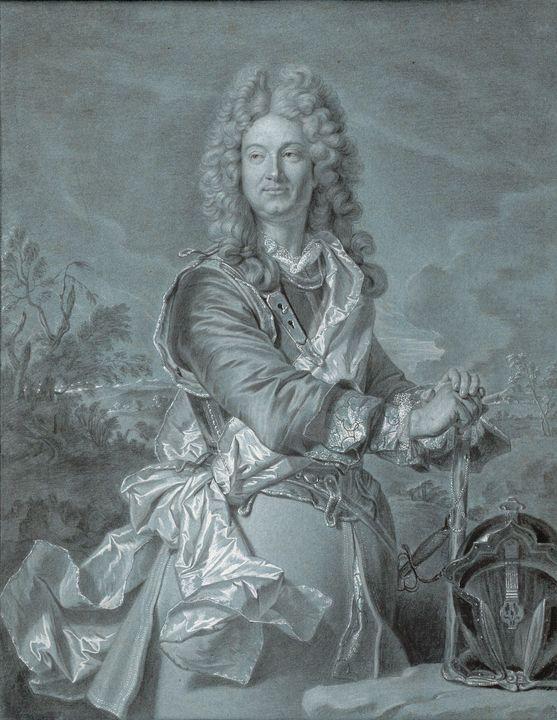 Hyacinthe Rigaud~Portrait of a Marsh - Classical art