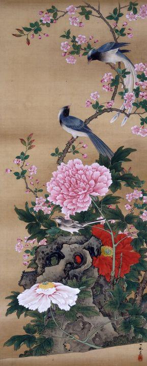 Ichiga Oki~Birds and Flowers - - Classical art