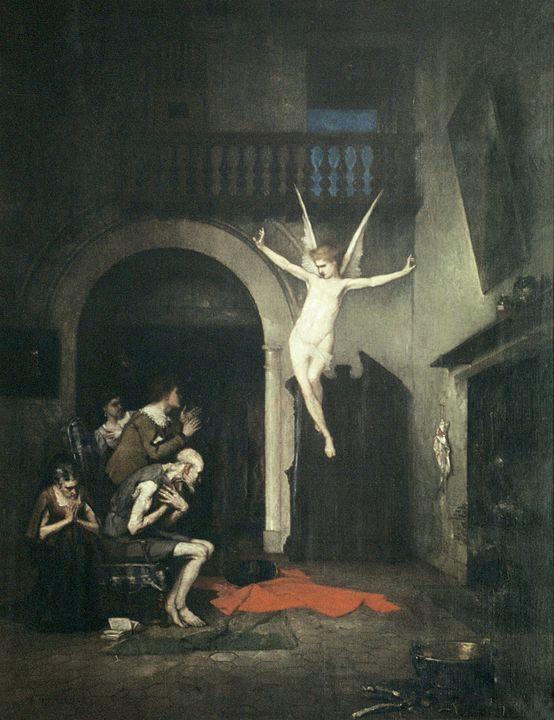 Ignacio Merino~Aparición del ángel a - Classical art