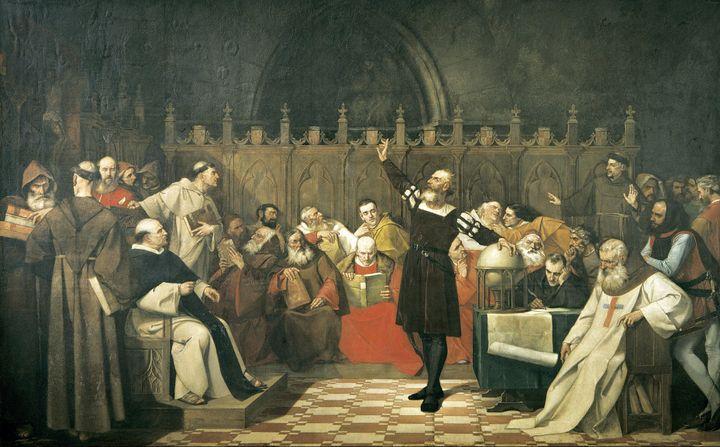 Ignacio Merino~Colón ante los sabios - Classical art