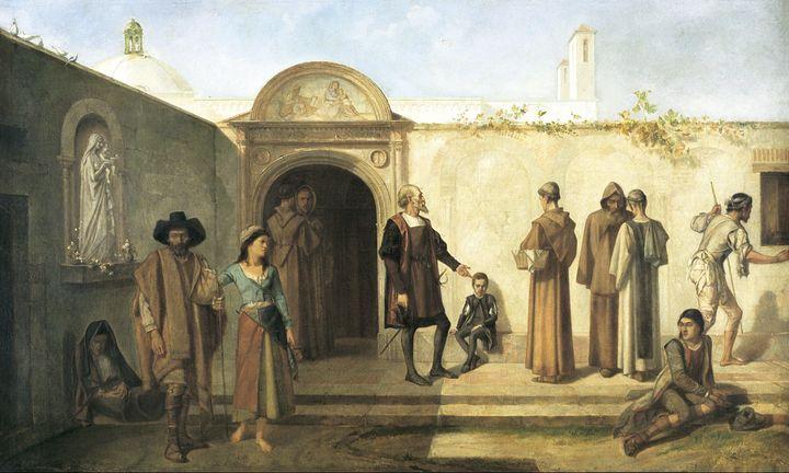 Ignacio Merino~Cristóbal Colón y su - Classical art