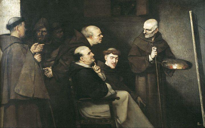 Ignacio Merino~El fraile pintor y su - Classical art