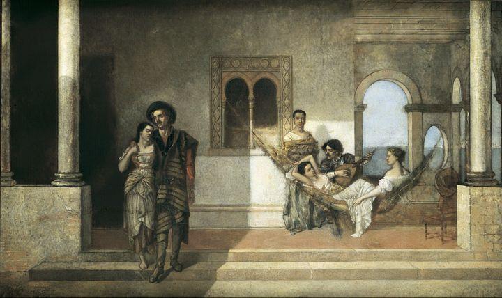 Ignacio Merino~Escena americana (Esc - Classical art