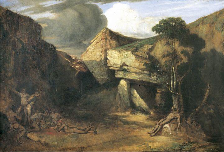 Ignacio Merino~Escena de caníbales ( - Classical art