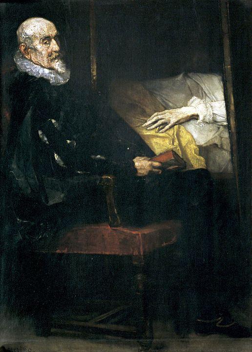 Ignacio Merino~La mano de Carlos V - Classical art