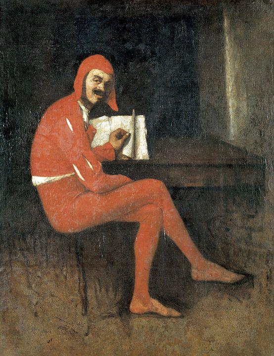 Ignacio Merino~Un bufón (Mefistófele - Classical art